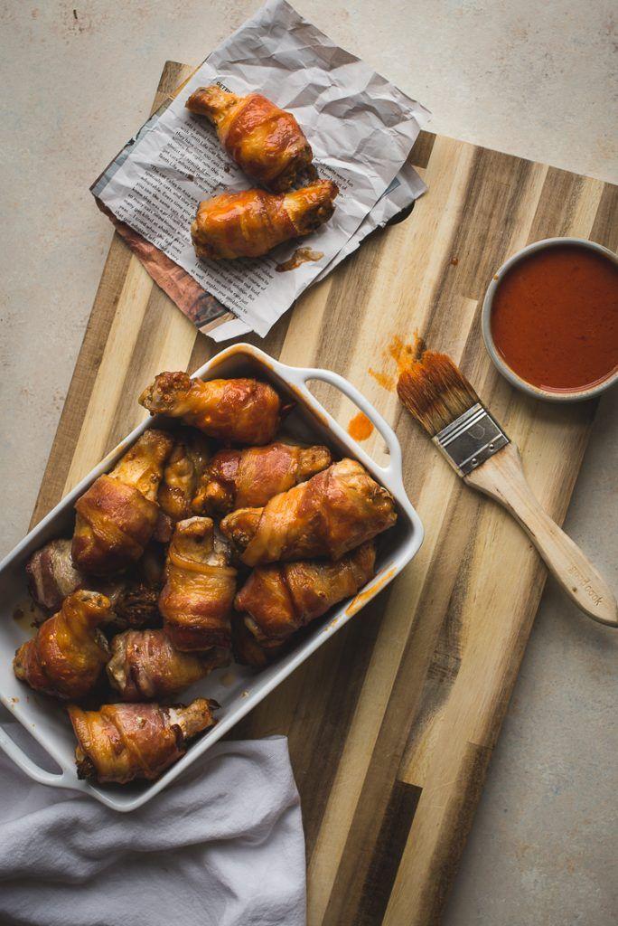 Crispy Oven Baked Bacon Skinned Atomic Wings