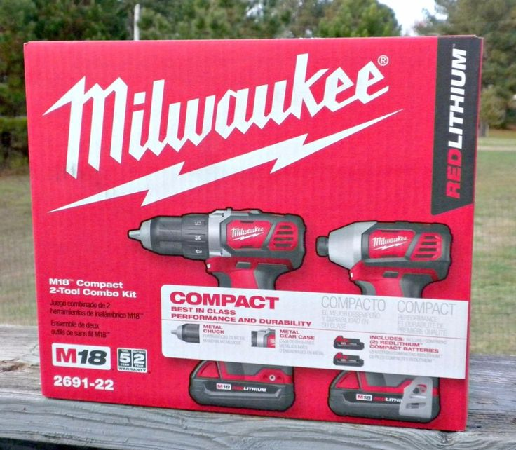 Milwaukee M18 compact 2 tool combo kit 2691-22 This is a two piece cordless compact drill driver and hex impact drive tool kit. The box was only opened to be sure all pieces were present.   eBay!
