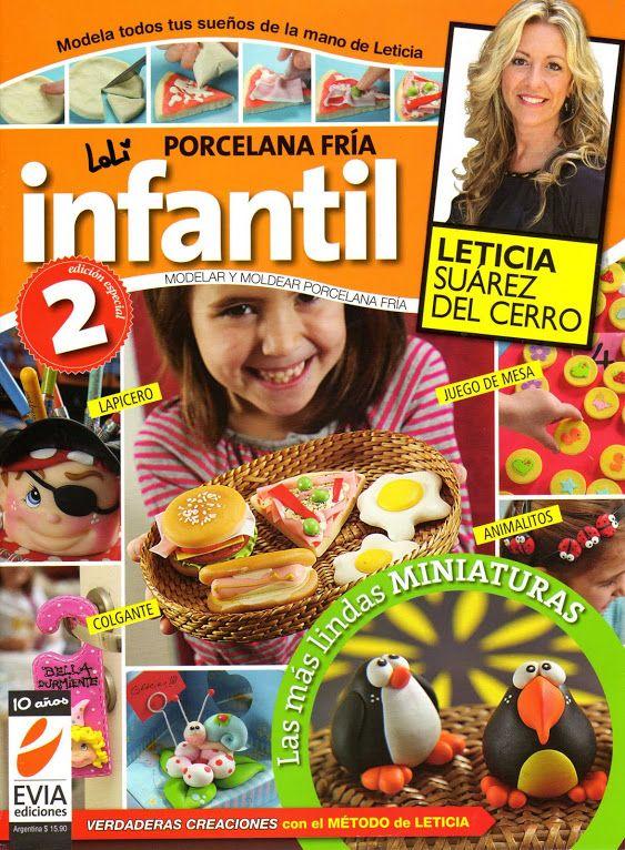 revista infantil con porcelana fría. manualidades con porcelana fría con niños