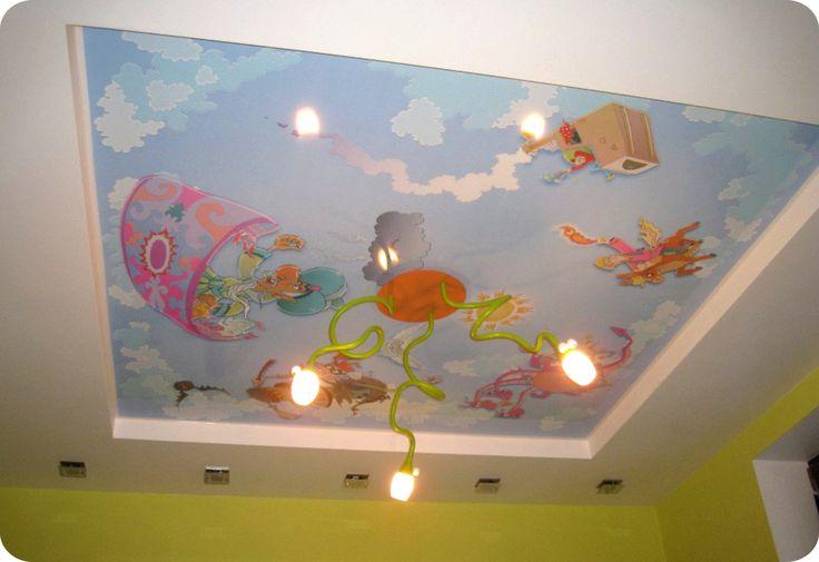 Особенности эксплуатации натяжного потолка в детской комнате