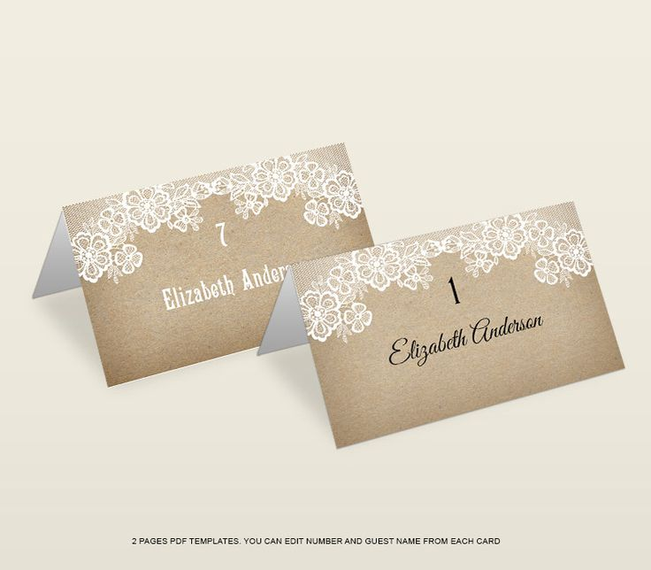 Best 25+ Place card template ideas on Pinterest Free place card - guest card template