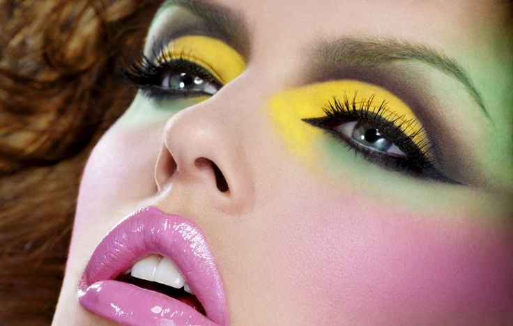 Strong: Colors Makeup, Fantasy Makeup, Dramatic Makeup, Eye Makeup, Yellow Eye, Makeup Ideas, Makeup Looks, Eyemakeup, Bright Colors