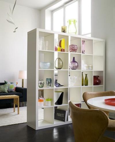 Mueble estantería divisor de ambientes