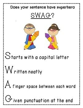 I use this cute acronym to help my Kindergartners remember how to write their sentence correctly.