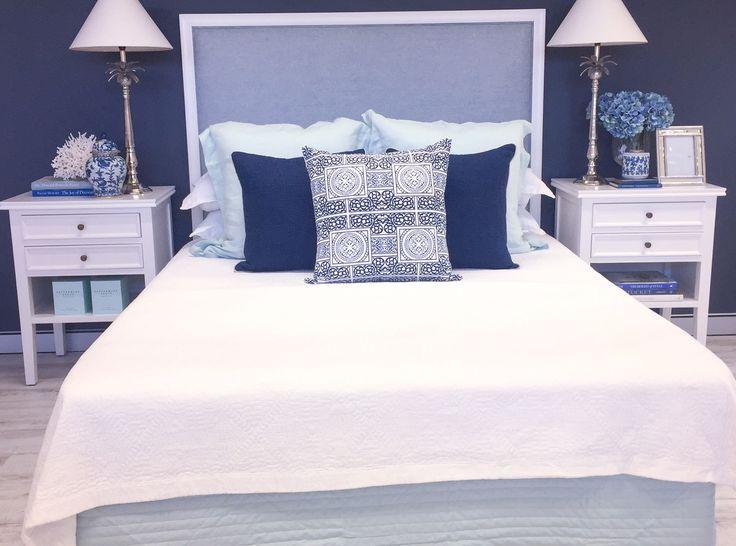 'Hugo Deluxe' Bed Head in Duck Egg Blue