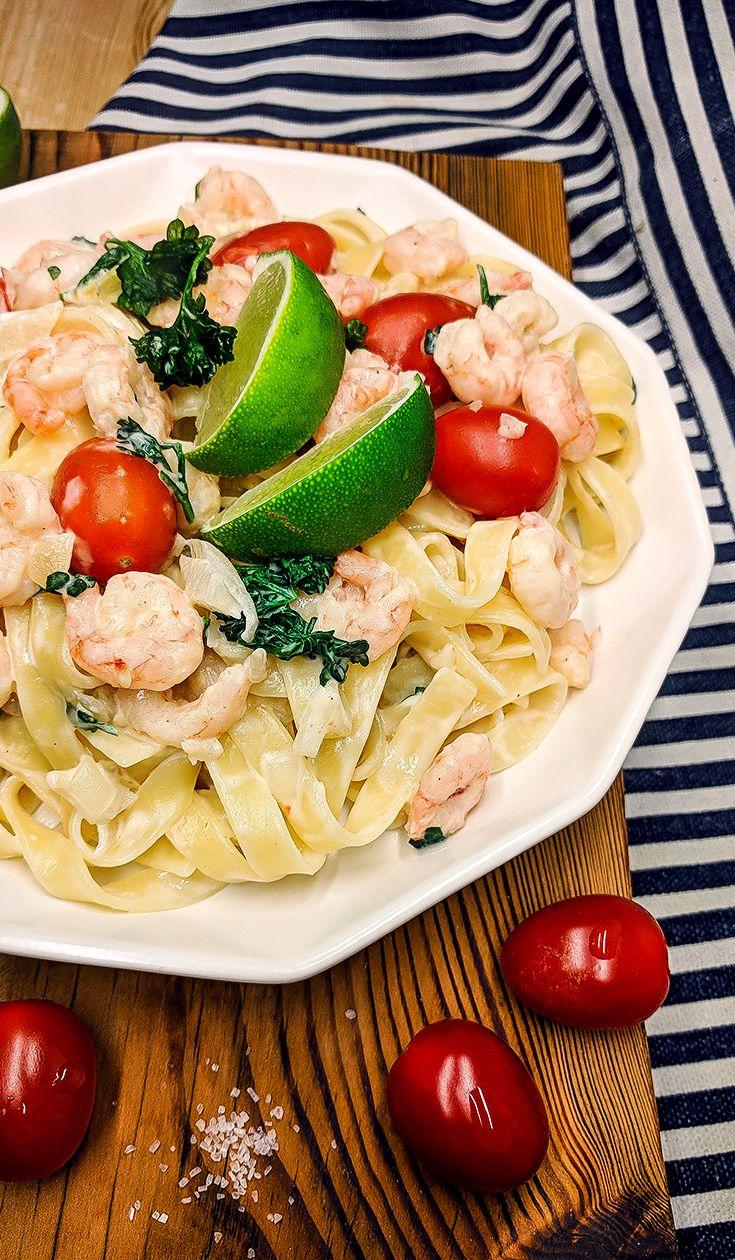 Creamy Shrimp Pasta Awesomeness For Two. Shrimp pasta, Shrimp recipe, Healthy shrimp dinner, Easy recipe, Creamy pasta, Best shrimp dishes, Shrimp noodles, Frozen shrimp