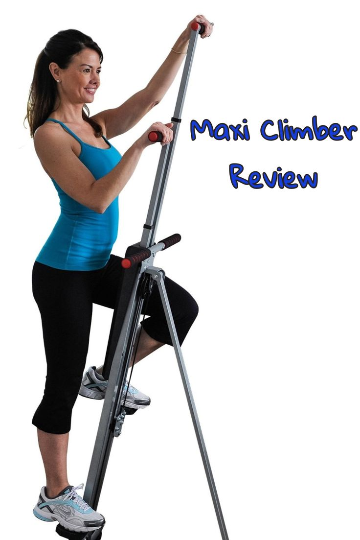 The #MaxiClimberVerticalClimber is a climbing exercise machine that will give you an effective cardio workout as it tones your lower body and burns calories to help you lose weight.  Workouts are short, and if you do them regularly you should be very happy with your results.