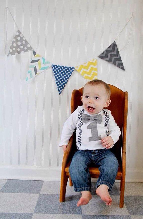 De eerste verjaardag jongens Outfit  Bow tie door SewLovedBaby