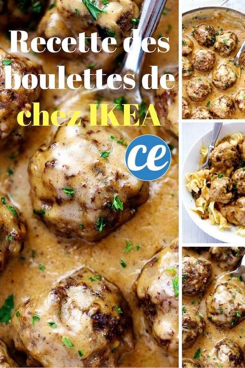 la recette facile et rapide à faire des boulettes suédoises servies avec une sauce crémeuse