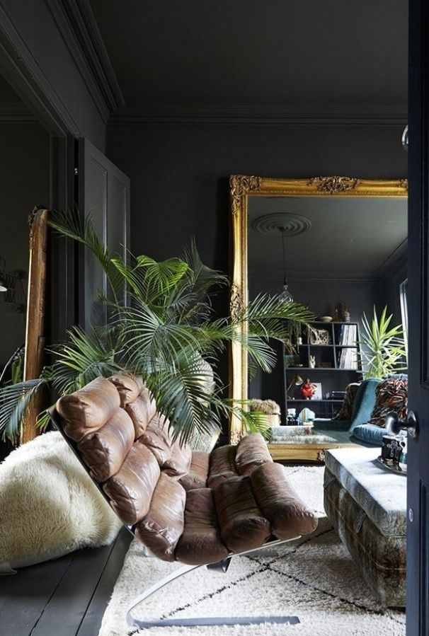 A Moody And Eclectic Georgian Home In London In 2021 Dark Living Rooms Home Interior Design House Interior