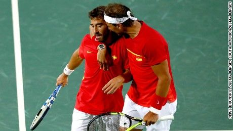 It was Spanish GOLD for Rafael Nadal in Rio Friday as he claimed Olympic tennis doubles victory alongside playing partner Marc Lopez.