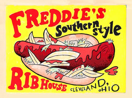 Polish Boy from Freddie's Rib House in Cleveland