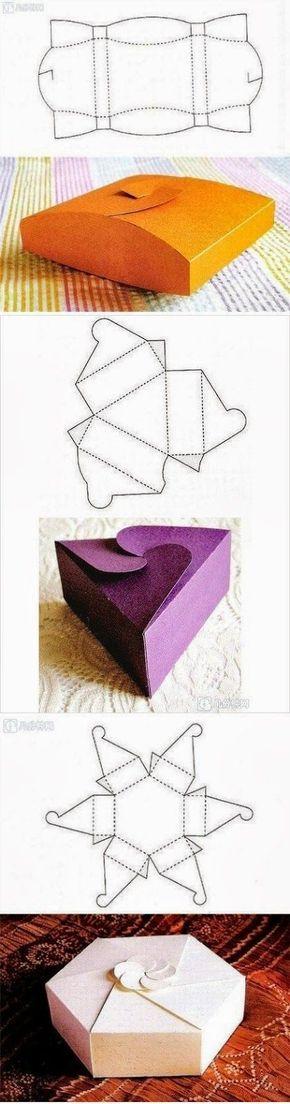 Plantillas para cajas originales / original boxecosas , uy interesantes patterns: (Chocolate Regalo Originals)