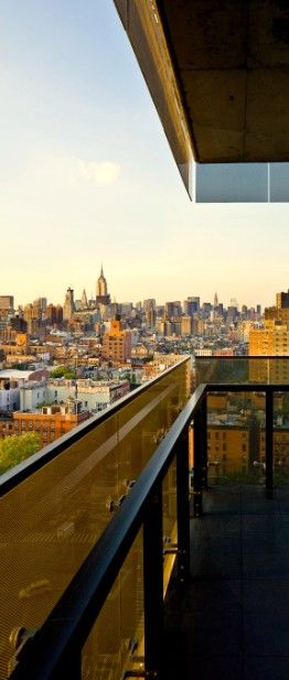Enjoy the view from a balcony at Thompson LES in #NYC.