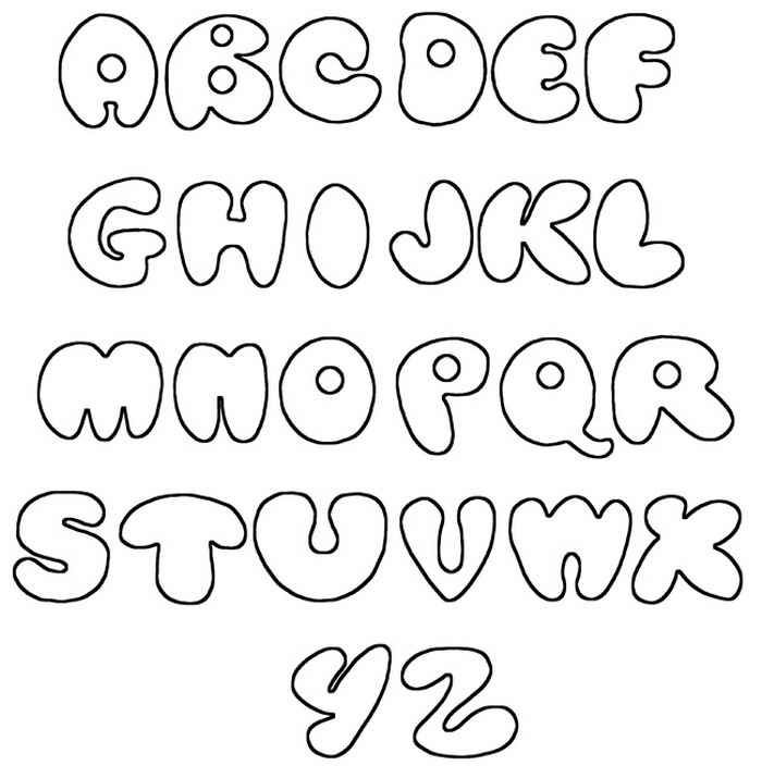Bubble Letter Graffiti Fonts Design Oct 2013: Graffiti Fonts Alphabet Printable Bubble AZ Graffiti Fonts
