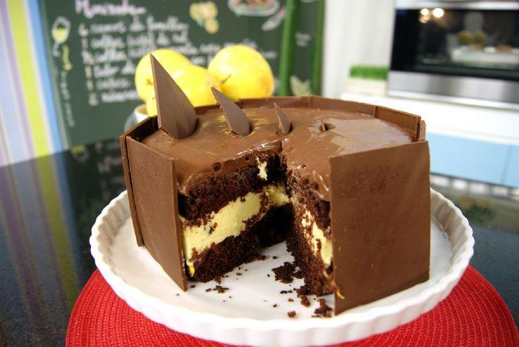 Bolo Dupla Paixão de Chocolate com Maracujá | Receitas | Dia Dia