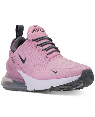 ed6b3ef53c34e Nike Girls  Air Max 270 SE Casual Sneakers from Finish Line - Finish Line  Athletic Shoes - Kids - Macy s