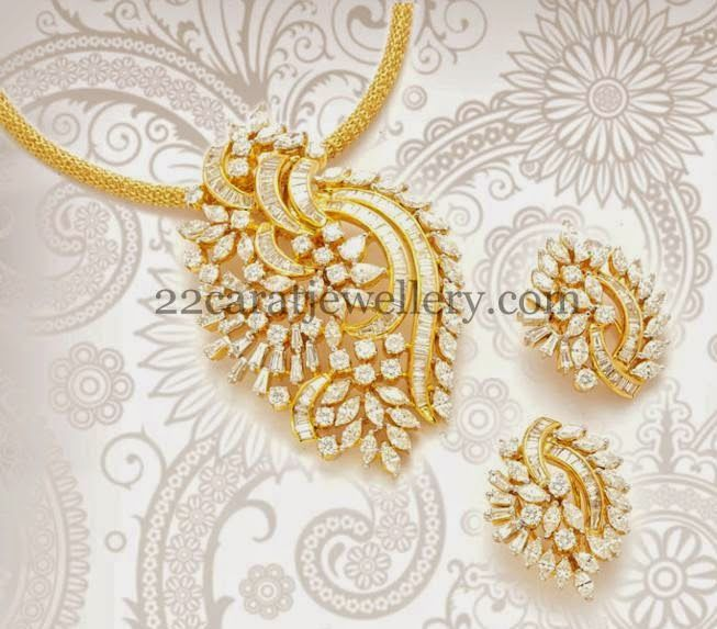 Jewellery Designs: Classic Diamond Pendant with Tops