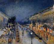 Boulevard Montmartre; Night Effect  by Camille Pissarro
