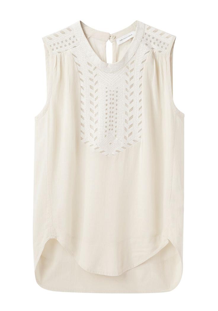 Great detail in bib and shoulders finn sleeveless top ++ etoile isabel marant