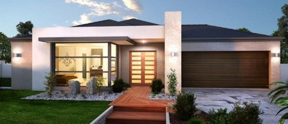 10 dise os de fachadas de casas modernas de un piso - Fachadas modernas de un piso ...