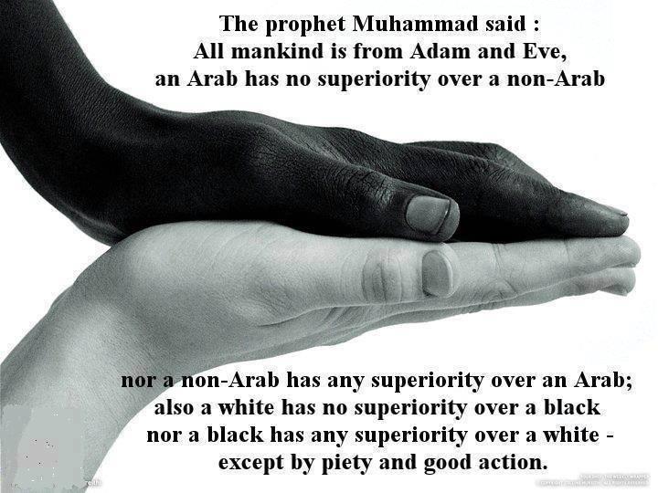 Equality in Islam.Proud to be a Muslim. Alhumdulillah!