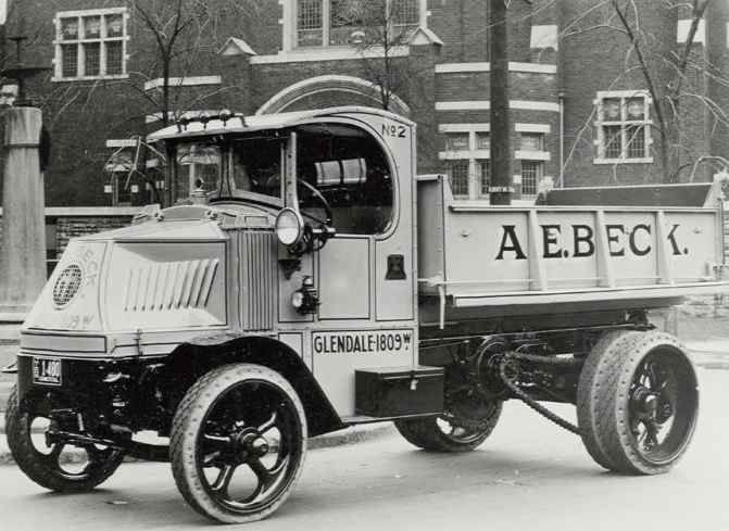 Mack chain drive truck.