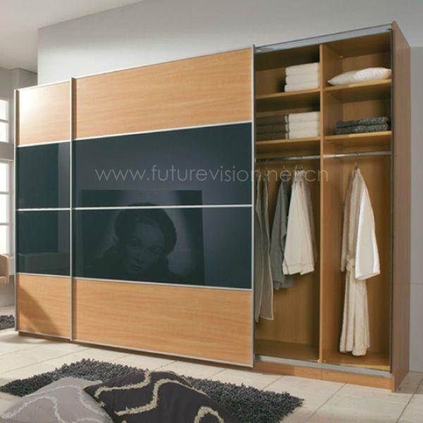 Modern hanging sliding door wardrobe for bedroom wardrobe design $1000~$1380