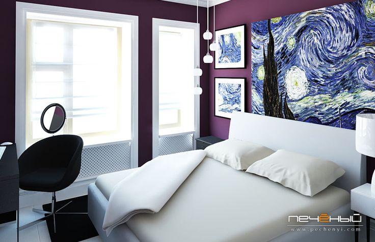 дизайн спальни, спальня дизайн, интерьер спальни, дизайнер интерьера, студия дизайна интерьера Антона Печёного