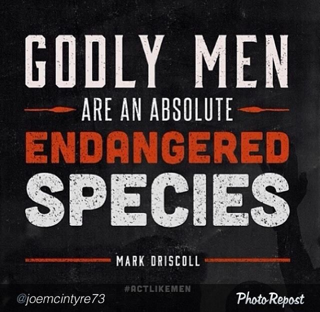 Dont settle for just a Christian man Wait for the Godly Man.... Step up Men and be bold in the Lord: