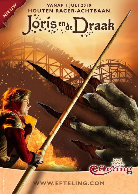 AMUSEMENT ATTRACTION! AMUSEMENT RIDE! Joris en de Draak (fire) front seat on-ride HD POV Efteling | Jerry's Hollywoodland Amusement And Trailer Park
