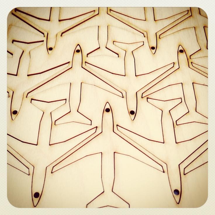 Super cute wooden laser cut plane shapes 6cm. Steve :-)