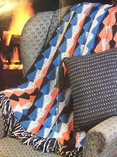 Indian Arrowhead Afghan Crochet Pattern Masculine Design