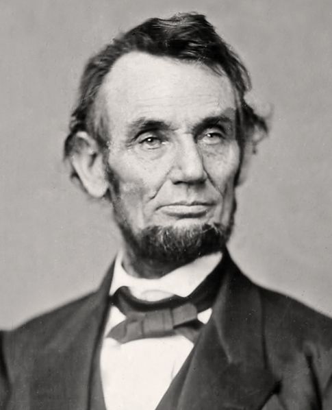 Abraham Lincoln, Matthew Brady image, ca. 1862.  Not a good hair day.
