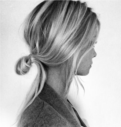 Casual Chic - low folded bun, hairstyle inspiration