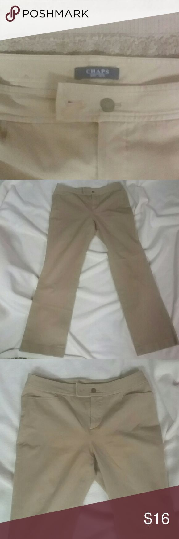 Camps kaki pants elastic and cotton kaki pants very good conditon Chaps Pants Boot Cut & Flare