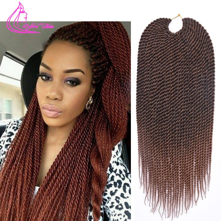 "Ombre Braiding Hair 18"" 75g/pack Crochet Twist Hair 30 Strands Faux Locs Crochet Braids Hair Extensions Crotchet Braiding Hair"