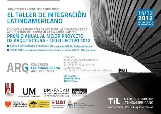 Premio Til 2012 para Estudiantes de Arquitectura Latinoamericanos