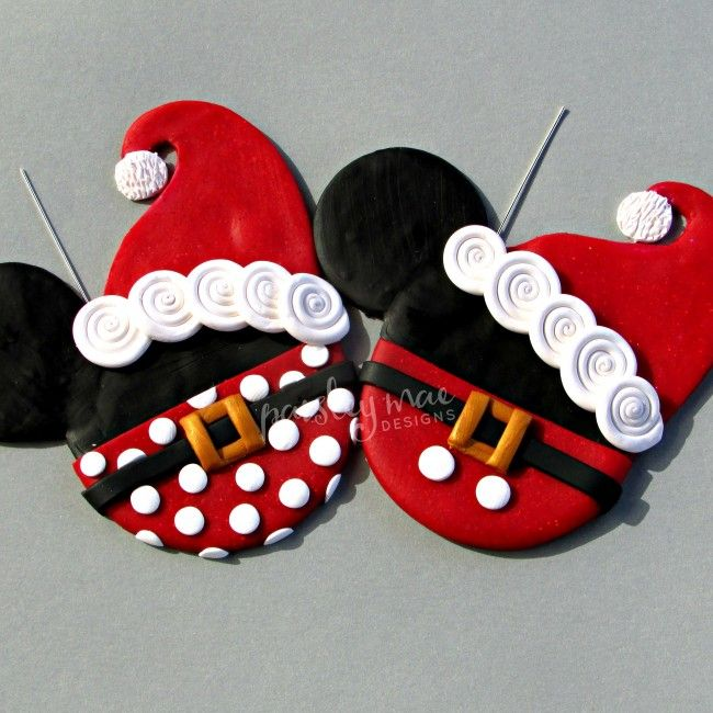 Mr. & Mrs. Ornaments $30.90  For the Perfect character Inspired Couple, Mr. & Mrs. Mickey and Minnie Mouse inspired Polymer clay Ornaments!   #Disneyinspired #Mickeymouseinspired #Minniemouseinspired #paisleymaedesigns