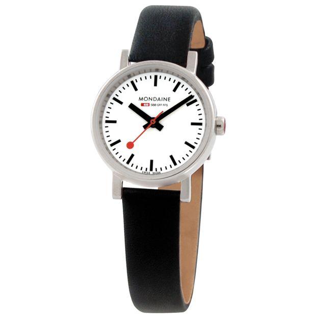 Evo Quartz Ladies by Mondaine (white/black) at Dezeen Watch Store #watches