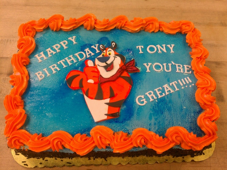 Tony The Tiger Birthday Cake Sweeter Days Bake Shop