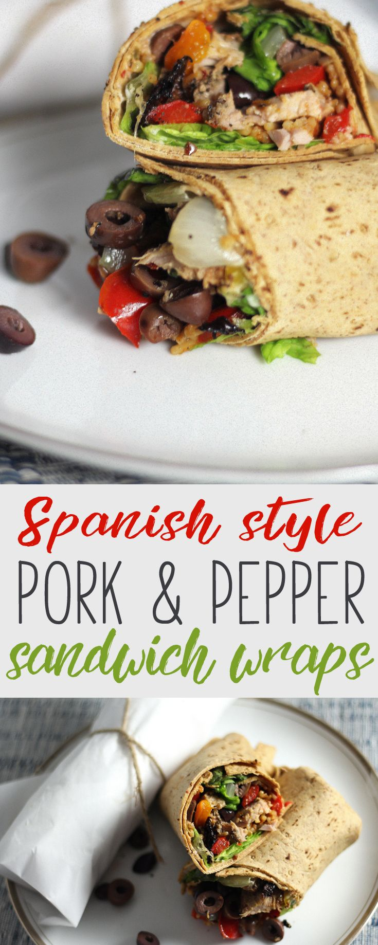 Crazy-good dinner idea. You are not going to believe how easy this recipe for Spanish Style Pork Pepper Sandwich Wraps is. Minimum effort + maximum flavor.     #ad #RealFlavorRealFast  @smithfield @walmart