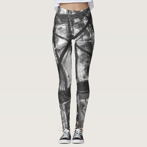 Steel Structure Blackandwhite Leggins Leggings