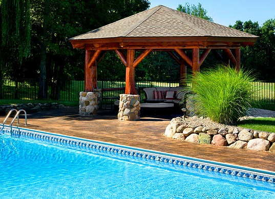Pool Gazebo Ideas pergola over the pool a wonderful choice Log Pool Gazebo