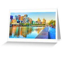 Melbourne Skyline Yarra Reflections from Southbank Greeting Card