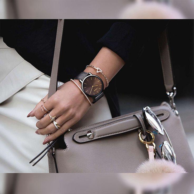 SINOBI Moda Casual Mulheres Relógios de Quartzo Pulseira de Couro Senhoras Pulseira de Ouro Relógio De Pulso Marca de Luxo 2017 relógio feminino em Relógios das mulheres de Relógios no AliExpress.com | Alibaba Group