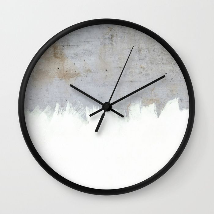 Painting On Raw Concrete Wall Clock Concrete Wall Wall Clock Grey Wall Clocks