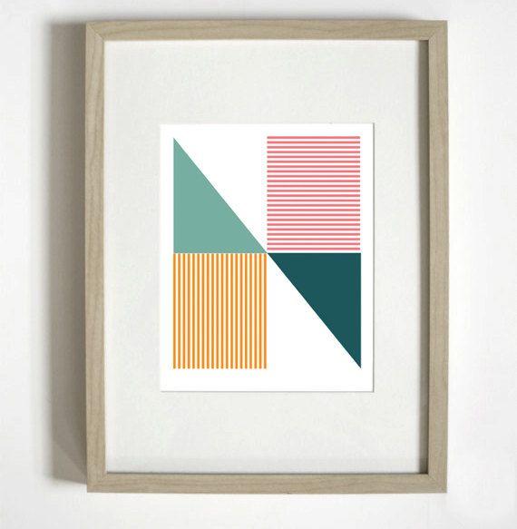 geometric 'N' typographic print by Nicole Phillips. nicoleap.etsy.com: Types Posters, Interiors Design, Art Prints, Typographic Posters, Overlays, Bedrooms Doors, Creative Furniture, Typographic Prints, Typographic Design