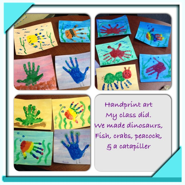 Handprint art square 1 art pinterest handprint art - Garden grove school district calendar ...