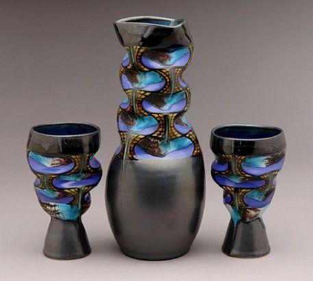 Ceramic carafe with cups, George Bowes | Ceramics ...